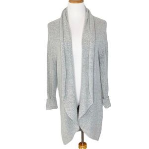 Leith Heather Gray Cozy Knit Cardigan Sweater M